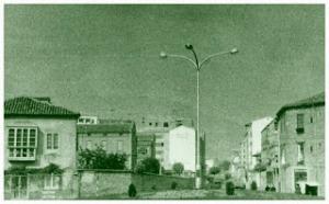 Foto antigua de la plaza Bilbao desde El Casco